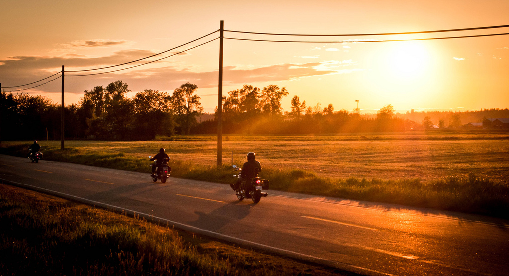 Image Gallery sunset motorcycle