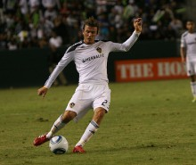David Beckham in action for the LA Galaxy, Image- TheDailySportsHerald via flickr Creative Commons