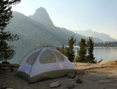 Tent camping at Rae Lakes. Photo by Miguel Vieira licensed Creative Commons Attribution