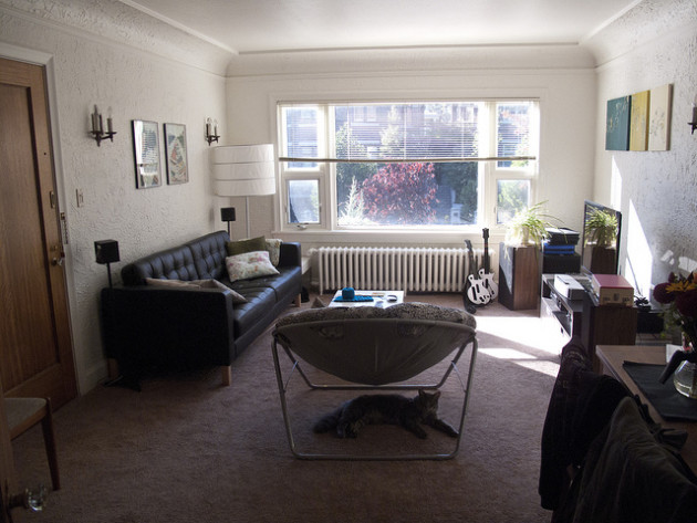 living room in an apartment