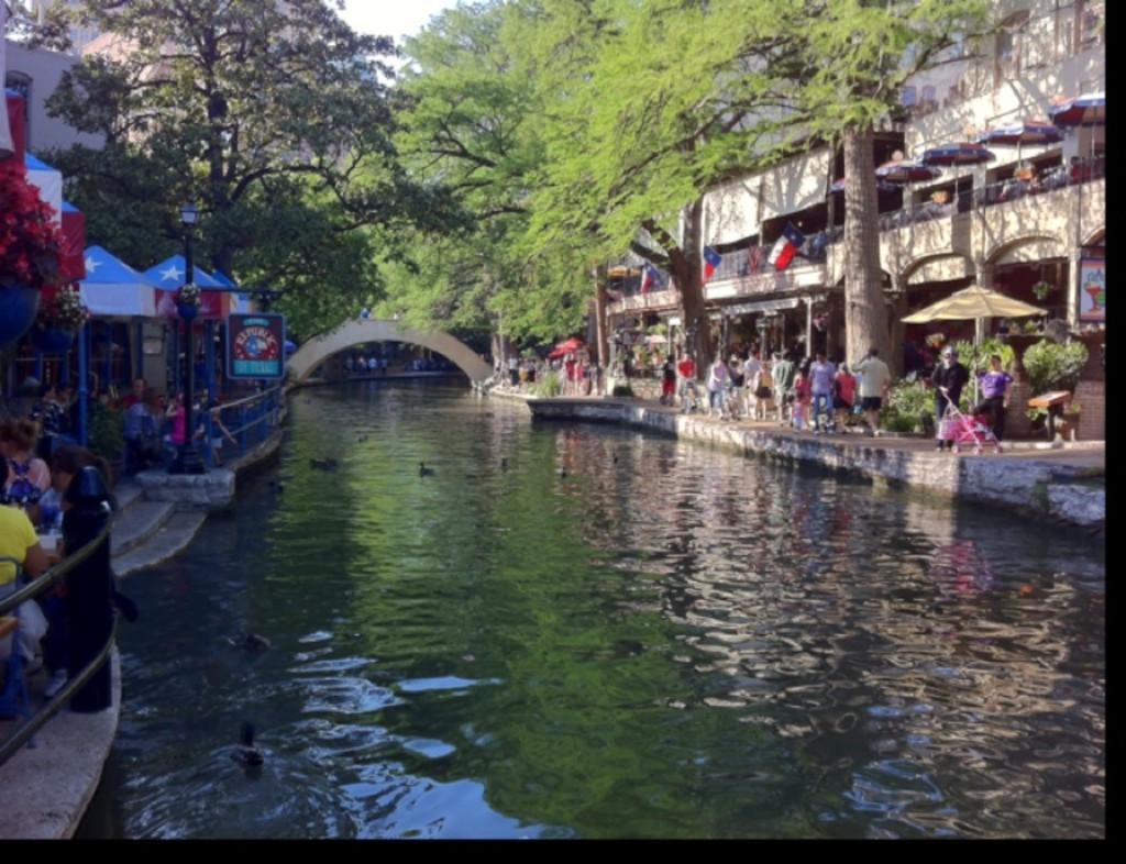 The perfect place to have a drink in San Antonio is down on the Riverwalk
