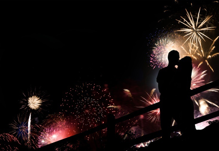 Nothing makes a Romantic New Year quite like fireworks...