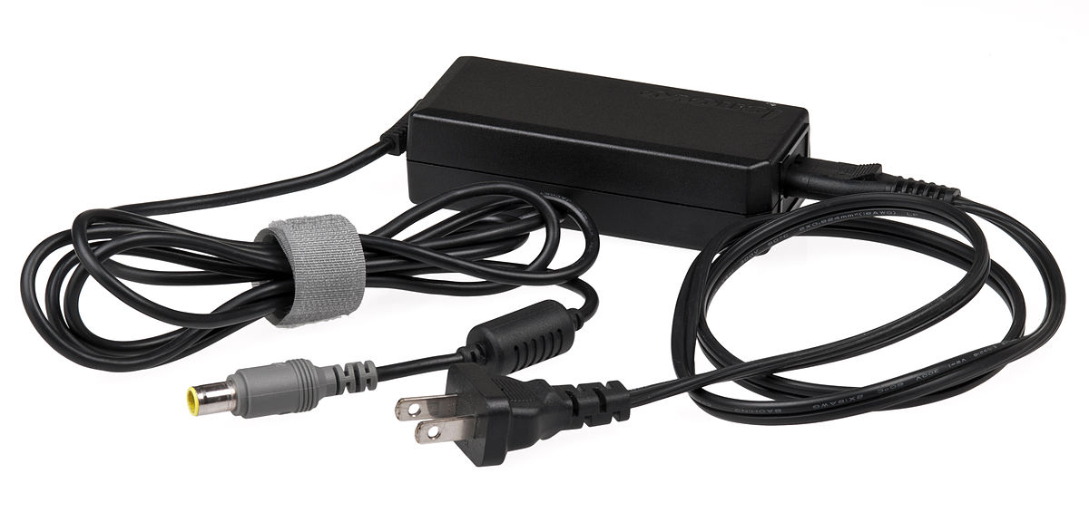 Third party chargers for your Dell Laptop should be avoided ... photo by CC user Evan-Amos on wikimedia commons