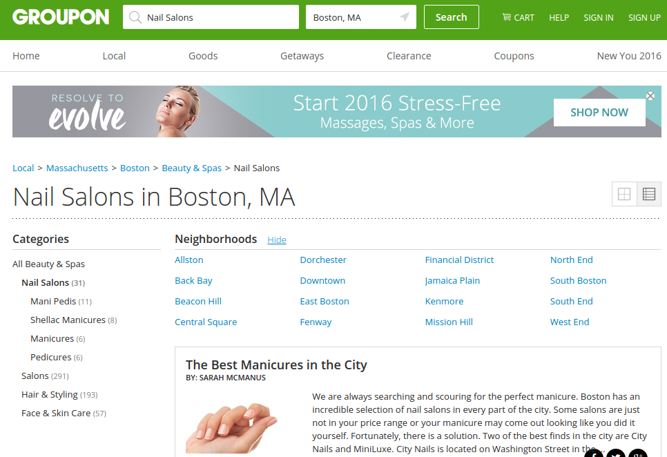 nail salons in boston