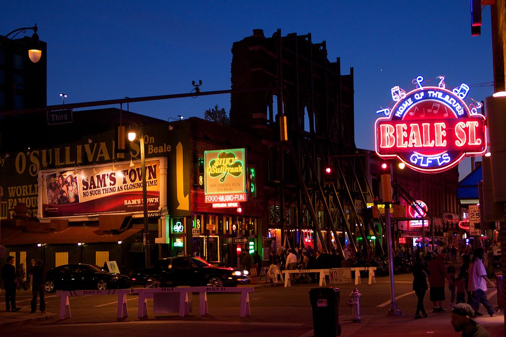 Beale Street makes Memphis one of the Coolest US Cities for Music Lovers