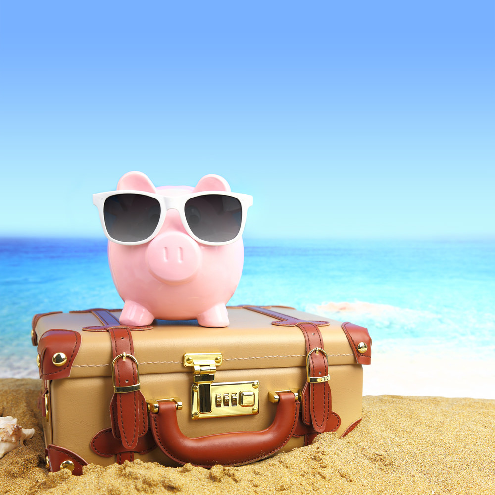 Save those dollars when hitting the road. Piggy will thank you for it.