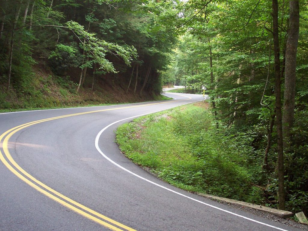 The tail of the dragon is one of the more exciting Driving Roads in North Carolina