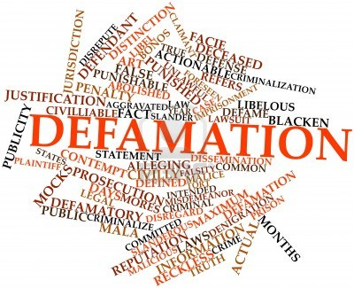 Online Defamation is a big problem these days