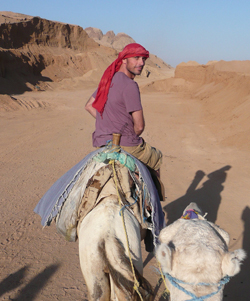 Alan tries out the local transport in Morocco