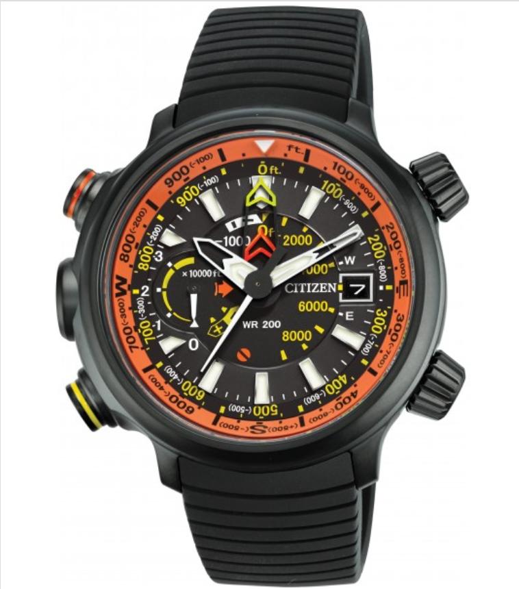 Citizen Mens Eco-Drive Altichron Dive Multifunction Titanium Watch